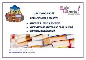 Curso adultos alfabetización